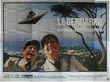 LE GENDARME ET LES EXTRATERRESTRES Affiche Cinéma GEANTE / WIDE Poster DE FUNES