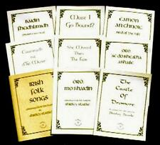 IRISH FOLK SONGS for Harp and Voice, Music, 8-Piece Set