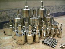 """3mm (1/8"""") - 125mm (5"""") THK Diamond coated hole saw core drills drill bit 43 pcs"""