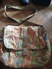 FOSSIL Paisley Corduroy Purse Messenger & Crossbody Small Shoulder Bag large euc