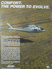 1/1989 PUB GRUPPO AGUSTA A109 MK II PLUS HELICOPTER HUBSCHRAUBER HELICOPTERE AD