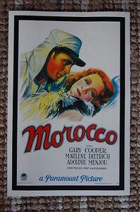 Morocco Lobby Card Movie Poster Gary Cooper Marlene Dietrich Adolphe Menjou