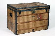 LATE 19TH CENTURY LOUIS VUITTON RAYEE STRIPE STEAMER TRUNK. Late 19th... Lot 973
