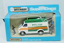 MATCHBOX SUPERKINGS K-71 * PORSCHE 911 POLICE SET * OVP * 1978