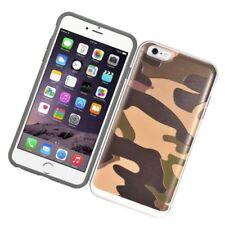 Fundas y carcasas de plástico de color principal marrón para teléfonos móviles y PDAs Apple