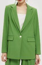 Topshop Green Oversized Blazer Size UK14 RRP£69 {R94}