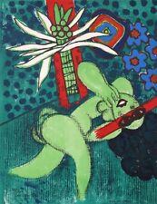 """Corneille Lithograph1972 Elle Est Fleur 20 x 26"""" Artist's Edition, No Frame"""