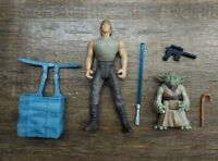Kenner Star Wars 1995 POTF2 Dagobah Luke & Yoda Set Loose Complete
