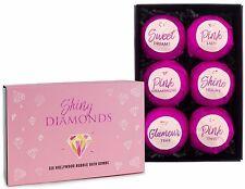 BRUBAKER Bath Bombs Gift Set 'Shiny Diamonds' Bomb Fizzers Handmade Vegan 6 Pcs.