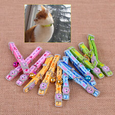 12x Puppy Collar Necklace Bell Strap Buckle Adjustable Small Pet Dog Cat Kitten