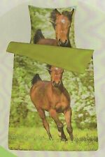Bettwäsche Kinderbettwäsche Pferd  Fohlen 135 x 200  mit RV Allergiker geeignet