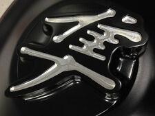 Hayabusa Custom Huge Smooth 3D Black/Silver Engraved Fuel/Gas Cap 08-09-12-16-17