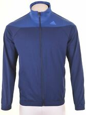 ADIDAS Mens Tracksuit Top Jacket Size 42 XL Blue Polyester Slim Fit  NT05