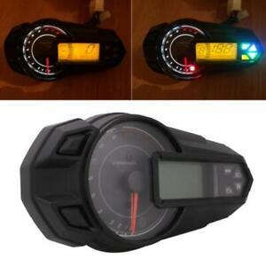 2018 Multifunction Motorcycle Digital Gauge Speedo Tacho Odo Meter Kmh Indicator