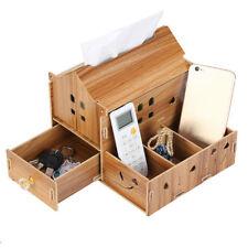 Wooden tissue box DIY multifunctional cosmetic storage box desktop paper tray wx