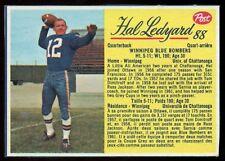 1963 POST CFL FOOTBAL #88 HAL LEDYARD NM Winnipeg Blue Bombers UNIV Chattanooga