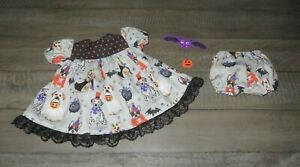"""Handmade Doll Clothes for 18"""" - 20"""" Baby Dolls - """"Doggie Treaters"""" Dog Dress Set"""