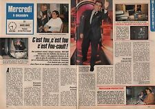 Coupure de presse Clipping 1987 Jean Pierre Foucault   (2 pages)