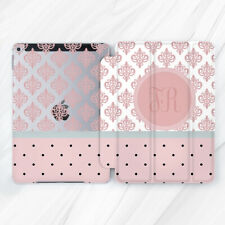 Pink Damask Lace Monogram Girl Case For iPad Pro 9.7 10.5 11 12.9 Air Mini 2 3 5