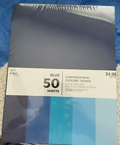 The Paper Studio Blue Cardstock 50 Pack-New/Sealed