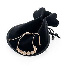 Light Rose Gold Adjustable Charm Bracelet Ladies Fashion Jewellery with gift bag