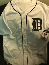 Detroit Tigers white authentic jersey size 52 majestic