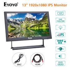Eyoyo 13'' 1920x1080 Display AV VGA BNC HDMI IPS Monitor Color Video For CCTV PC