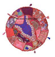 Indien Patchwork Rond Ethnique Housse Coussin Canapé Décor Taie Oreiller 40.6cm