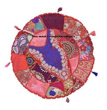 """Indian patchwork Round ethnic cushion covers Sofa Decor throw Pillow case 16"""""""