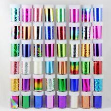 50 X Nail Art Láminas Wraps transferencia Glitter Etiqueta Engomada polaco Calcomanía decoración del Reino Unido