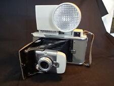 Old Vtg Polaroid Land Instant Camera Model 80A W/Case & Accessories