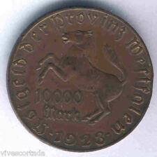 Alemania 10.000 marcos Wesfalia 1923 Cobre E.B.C.