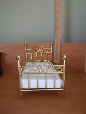 SINGLE BRASS BED - DOLL HOUSE  MINIATURE