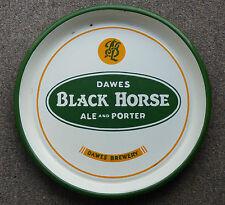 40's Dawes BLACK HORSE Ale & Porter Montreal, QC porcelain beer tray FREE SHIP!