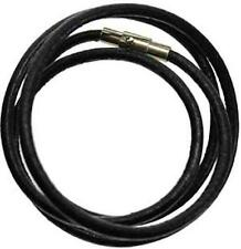 "24"" 3mm Black Leather Cord for Pendant, Necklace!"