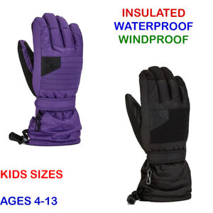 Kids Gloves Gordini Lily Insulated Winter Gloves Snowboarding Skiing Gear NEW