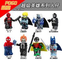 Bausteine Filmcharakter Ghost Rider Killer Frost Batman Modell Spielzeug 8PCS