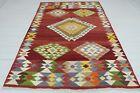 """Anatolia Turkish Antalya Nomads Kilim 66,1""""x94"""" Area Rug Kelim Carpet Wool"""