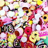 100g. Mix Assorted Food Cup Cake Fruit Candy Resin Flatback Scrapbooking Buttons