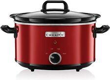 Crock-Pot 3.5L Slow Cooker Bowl is Dishwasher Safe Low High Warm Settings - Red