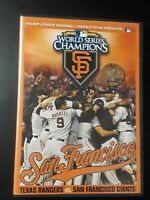 SF San Francisco Giants 2010 World Series Champions MLB vs Texas Rangers DVD
