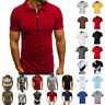 Men's Polo Dress Shirts Short Sleeve T-Shirt Golf Casual Muscle Tops Casual Tee