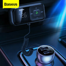 Baseus Wireless FM Transmitter Bluetooth 5.0 Radio Receiver USB Car Charger Kit