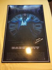 Vintage Movie Poster Dark City Rare Store Display Double Sided Nss #970126
