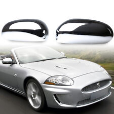 For JAGUAR X-type XK XKR XJ X350 S-type Chrome Door Mirror Wing Covers ABS