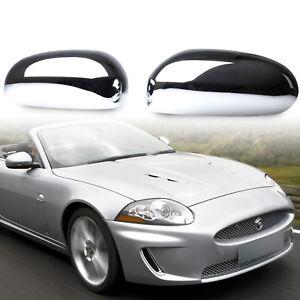 Chrome Door Mirror Wing Covers ABS For JAGUAR X-type XK XKR XJ X350 S-type