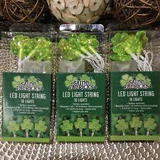 New ListingHappy St. Patrick's Day Green Shamrock Shaped Led String Lights Trio Bundle -30