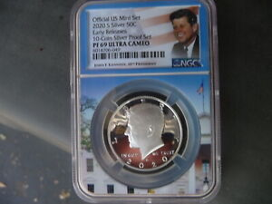 2020 s silver Kennedy half dollar NGC PF 69 Ultra Cameo (Early Releases)