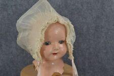 old baby doll hat bonnet original ruffle cotton lace white organdy original