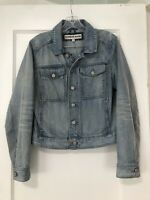 Women's Express Light Denim Jacket With Button Closure. Size M.